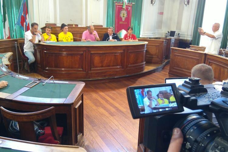 La conferenza stampa di presentazione dei giochi nazionali Special Olympics a palazzo Oropa