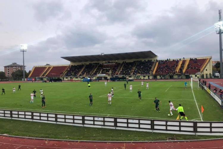 Immagine di archivio di un match internazionale allo stadio di Biella