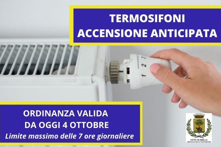 Accensione anticipata dei termosifoni