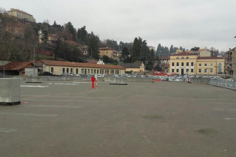 Il secondo piano del parcheggio della Funicolare