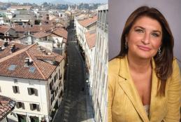 Via Italia e l'assessore Barbara Greggio