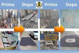 Alcuni interventi di manutenzione svolti in città