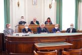In sala del consiglio a Palazzo Oropa
