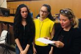 Francesca Panetta e Martina Palma, prime classificate tra le scuole medie