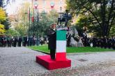 Il prefetto Annunziata Gallo legge il messaggio del presidente Mattarella